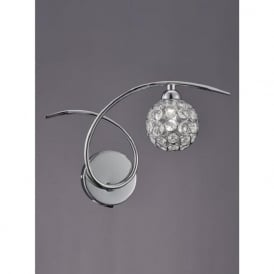 Franklite FL2308/1 Oracle 1 Light Switched Wall Light Chrome