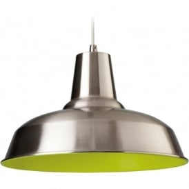 Firstlight 8623BSGN Smart 1 Light Ceiling Brushed Steel