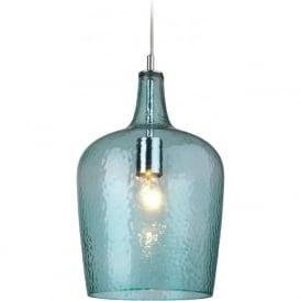 Firstlight 2301AQ Glass 1 Light Pendant Aqua