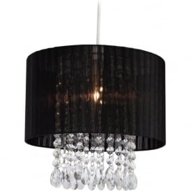 Firstlight 8634BK Organza Easy-Fit Non-Electrical Pendant Black