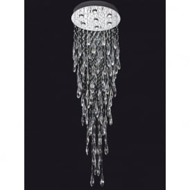 Franklite FL2320/7 Shimmer 7 Light Ceiling Light Chrome
