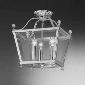 LA7002/3 Atrio 3 Light Ceiling Lantern Polished Chrome