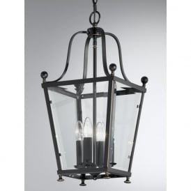 LA7004/4 Atrio 4 Light Ceiling Lantern Antique Bronze