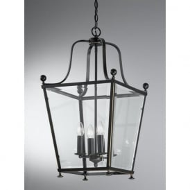 LA7005/4 Atrio 4 Light Ceiling Lantern Antique Bronze