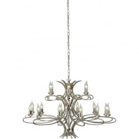 Interiors CA7P18N Penn 18 Light Ceiling Pendant Polished Nickel