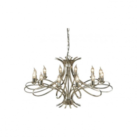 Interiors CA7P12N Penn 12 Light Ceiling Pendant Polished Nickel