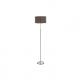 Eglo 95344 Romao 2 1 Light Floor Lamp Chrome/Satin Nickel