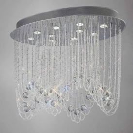 IL31392 Camilla 10 Light Crystal Ceiling Light Polished Chrome