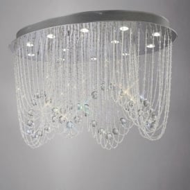 IL31393 Camilla 12 Light Crystal Ceiling Light Polished Chrome