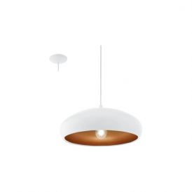 Eglo 94606 Mogano 1 1 Light Ceiling Pendant White/Copper