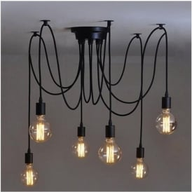 Pendant lighting pendant lights ocean lighting alfie lighting al 6sp 6 light suspension spider pendant ceiling light in black finish aloadofball