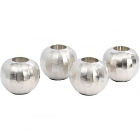 Libra 337962 Ripples Silver Tealight Holders Set of 4
