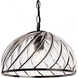 FirstLight 4868BK Pascal Pendant Light Black