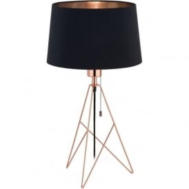 Eglo 39178 Camporale 1 Light Table Lamp Copper