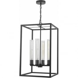 Dar FEL0422 Felipe 4 Light Lantern Black