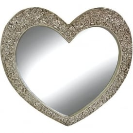 Phamore PMRHEARTMED-CHAMP Medium Heart Mirror Champagne
