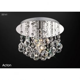Diyas D0141 Acton 1 Light Ceiling Light Polished Chrome