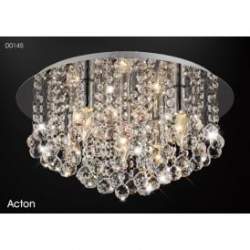 Diyas D0145 Acton 5 Light Ceiling Light Polished Chrome