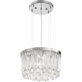 Eglo 93425 Calaonda 7 Light Ceiling Pendant Steel and Chrome