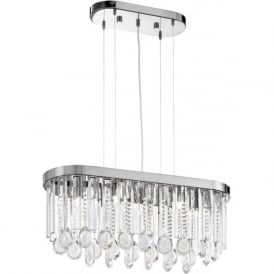 Eglo 93424 Calaonda 7 Light Ceiling Pendant Steel and Chrome