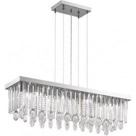 Eglo 93423 Calaonda 11 Light Ceiling Pendant Steel and Chrome