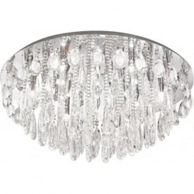 Eglo 93434 Calaonda 10 Light Ceiling Light Polished Chrome
