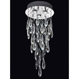 Franklite FL2320/3 Shimmer 3 Light Ceiling Light Chrome