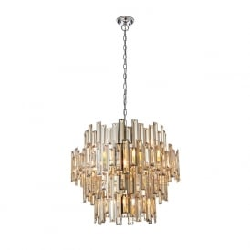 Endon 72746 Viviana 15 Light Pendant Polished Chrome
