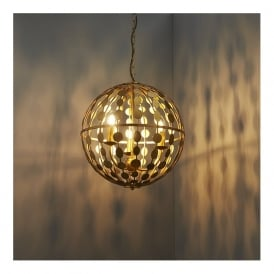 Endon 72797 Alvah 3 Light Pendant Gold Leaf