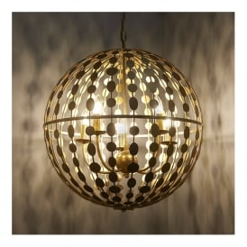 Endon 72798 Alvah 5 Light Pendant Gold Leaf