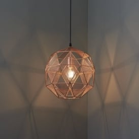 Endon 72815 Armour 1 Light Ceiling Pendant Copper