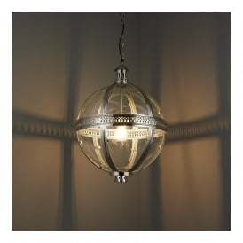 Endon 73108 Vienna 1 Light Ceiling Pendant Nickel