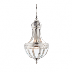 Endon 73100 Vienna 1 Light Ceiling Pendant Nickel