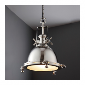 Endon 73103 Fenton 1 Light Ceiling Pendant Nickel