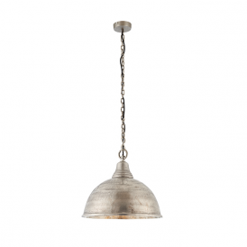 Endon 73133 Nesta 1 Light Ceiling Pendant Antique Silver