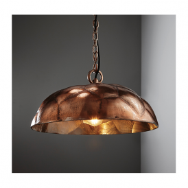 Endon 73078 Elmore 1 Light Ceiling Pendant Antique Copper