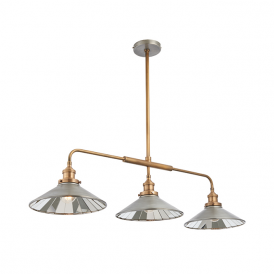 Endon 73128 Tabyas 3 Light Ceiling Pendant Zinc and Brass
