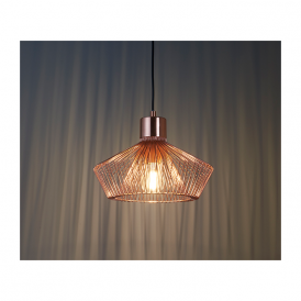 Endon 72813 Kimberley 1 Light Ceiling Pendant Copper