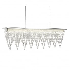 Searchlight 8857CC Drape LED Crystal Ceiling Pendant Polished Chrome
