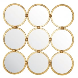 Endon 69548 Bradbury Mirror Antique Gold