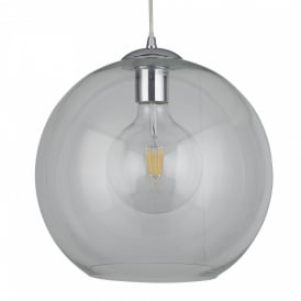 Searchlight 1632CL Balls 1 Light Ceiling Pendant Chrome Clear Glass