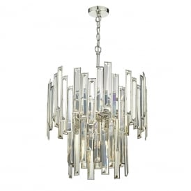 Dar ODI0620 Odile 6 Light Pendant Polished Nickel