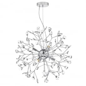 Dar VIV0650 Vivien 6 Light Pendant Polished Chrome