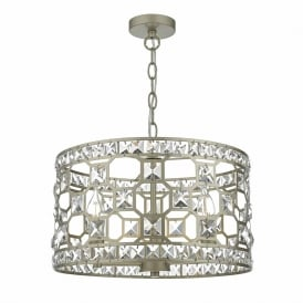 Dar SOI0335 Soire 3 Light Crystal Pendant Gold