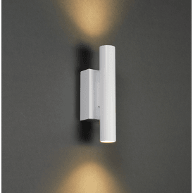 Endon 73959 Staten Twin LED Up and Down Wall Light Matt White
