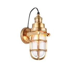 Endon 72988 Elcot 1 Light Wall Light Brushed Brass