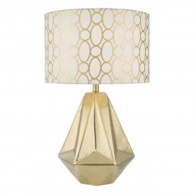 Dar PAS4235 Pasadena 1 Light Table Lamp Gold
