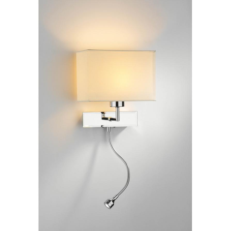 Dar AMA11 Amalfi 11 Light Wall Light Polished Chrome