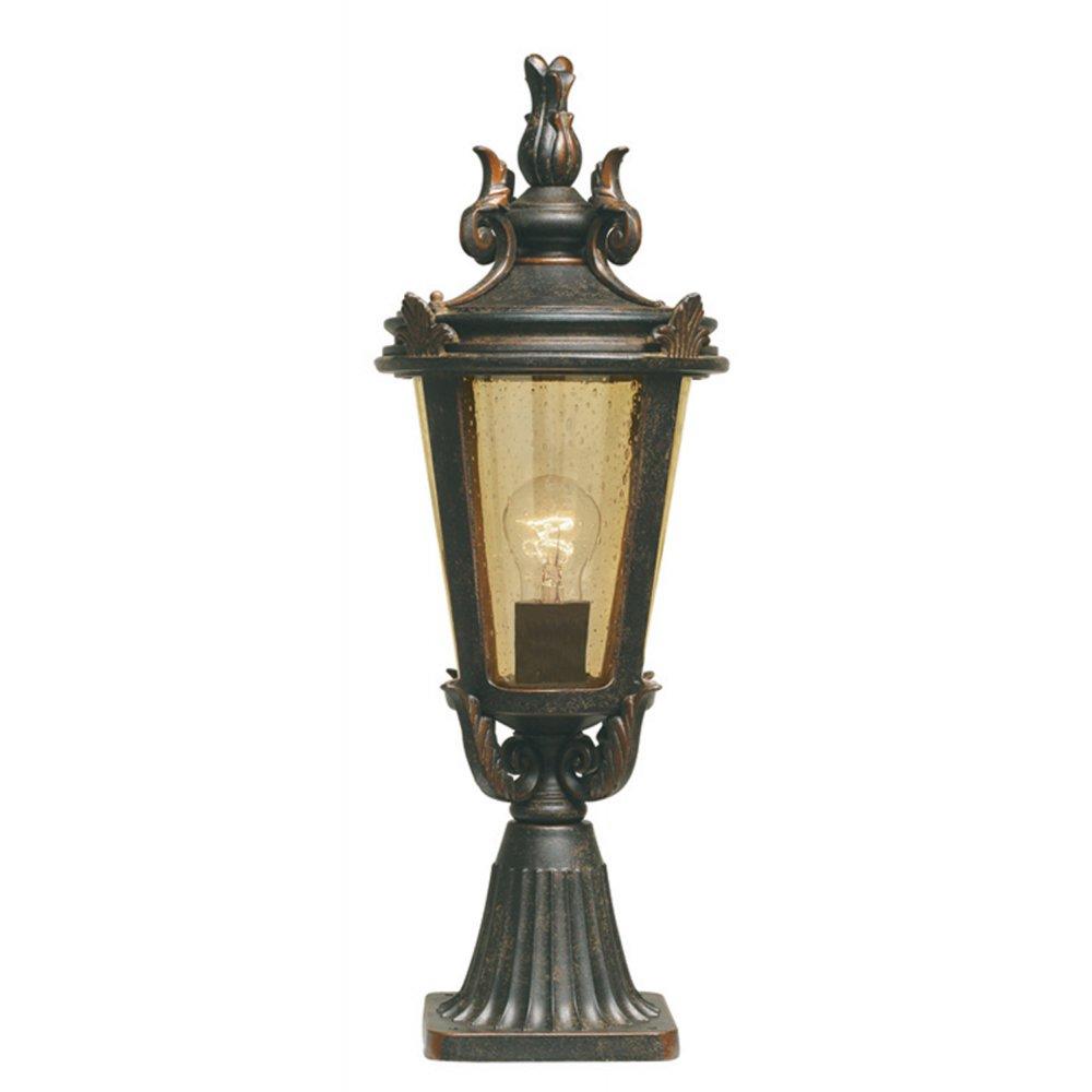 Elstead Bt3 M Baltimore 1 Light Outdoor Post Lamp Weathered Bronze